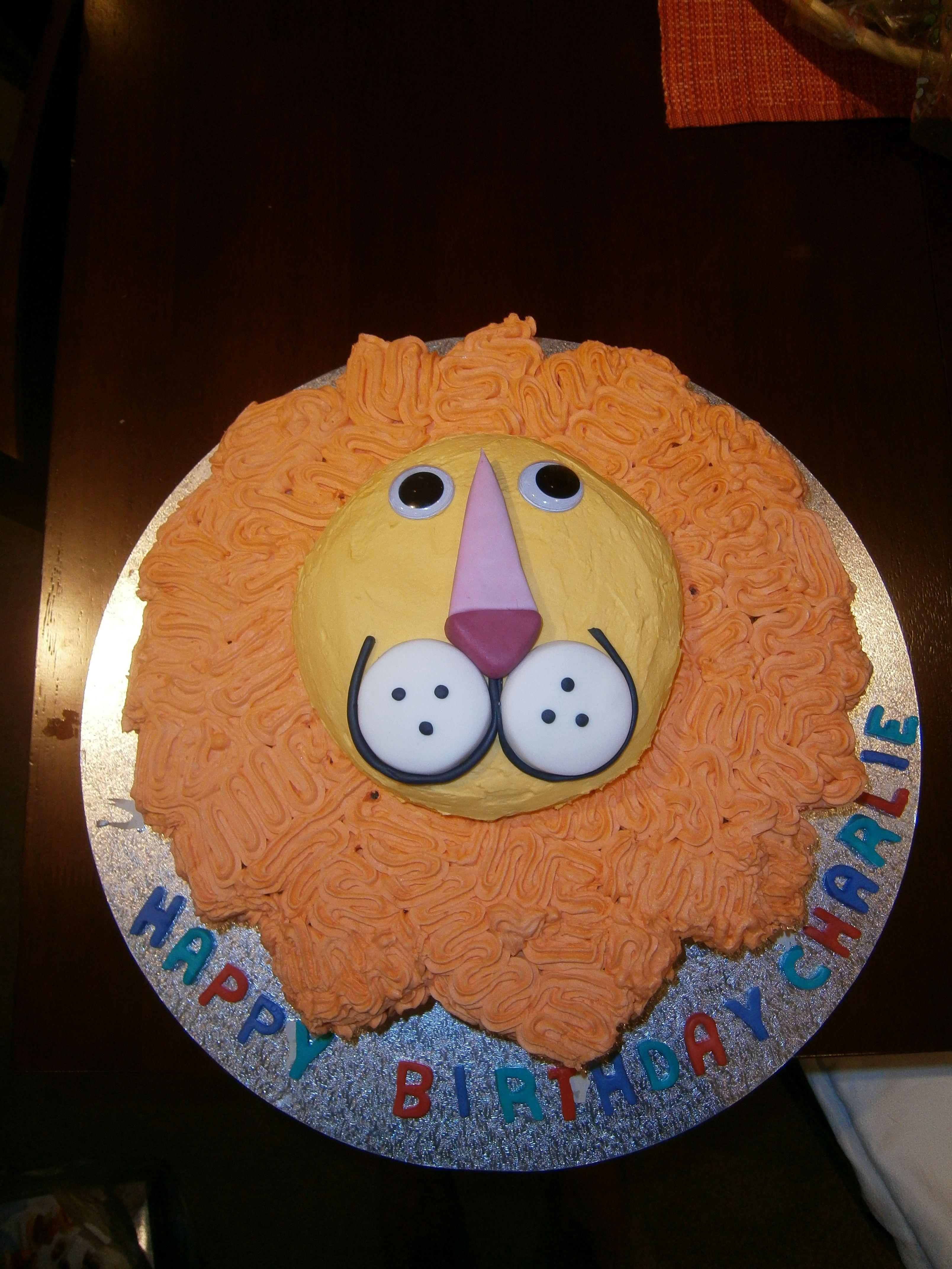 Lion animal cake