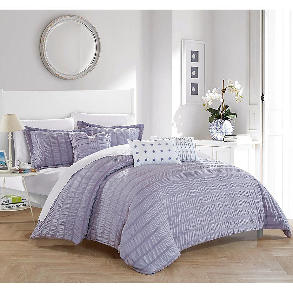 Dazza 6Piece Queen Comforter Set In Lavender Comforter