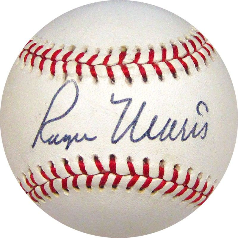 This Is One Of The Cleanest Roger Maris Autographed Baseballs Jsa On The Market Available At Www Holl Roger Maris Autographed Baseballs Sports Memorabilia
