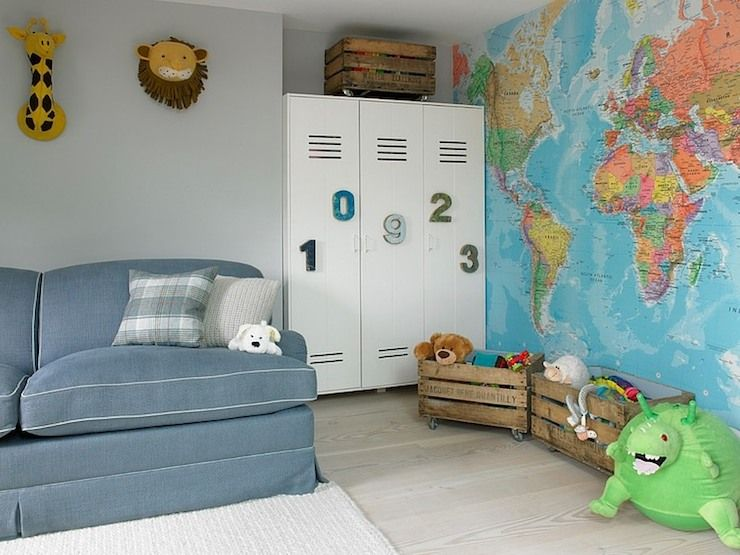 Kids Room World Map Wallpaper Kids Room Pinterest - World map for playroom