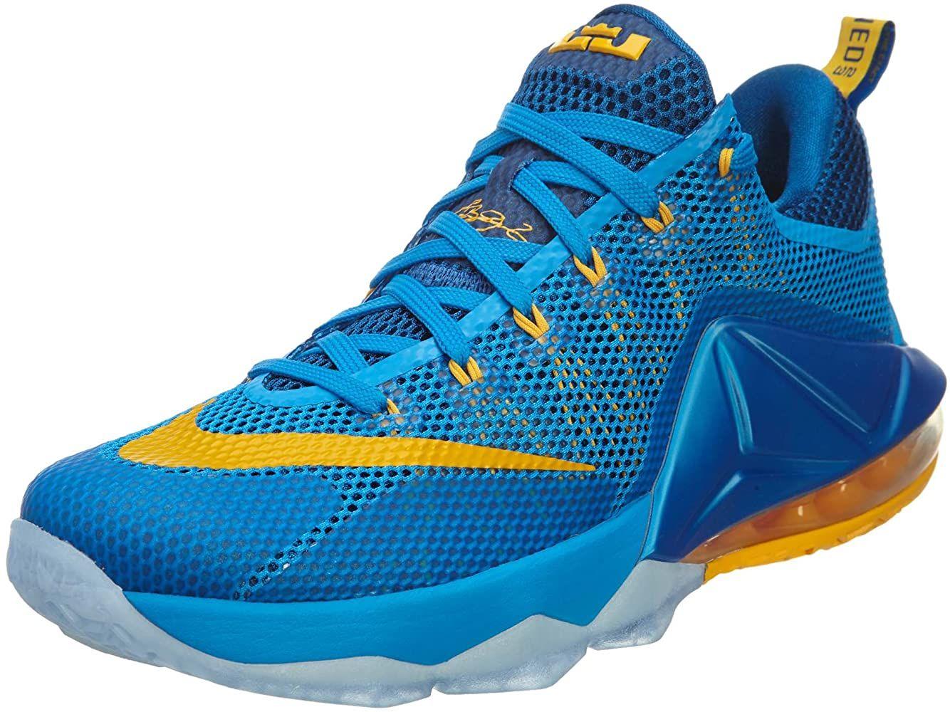 Nike Mens Lebron XII Low Photo Blue