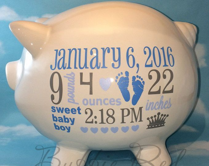 Personalized piggy bank baby girl piggy bank shopping fund baby personalized piggy bank baby girl piggy bank shopping fund baby birth stats gift girl piggy bank baby girl gift negle Choice Image