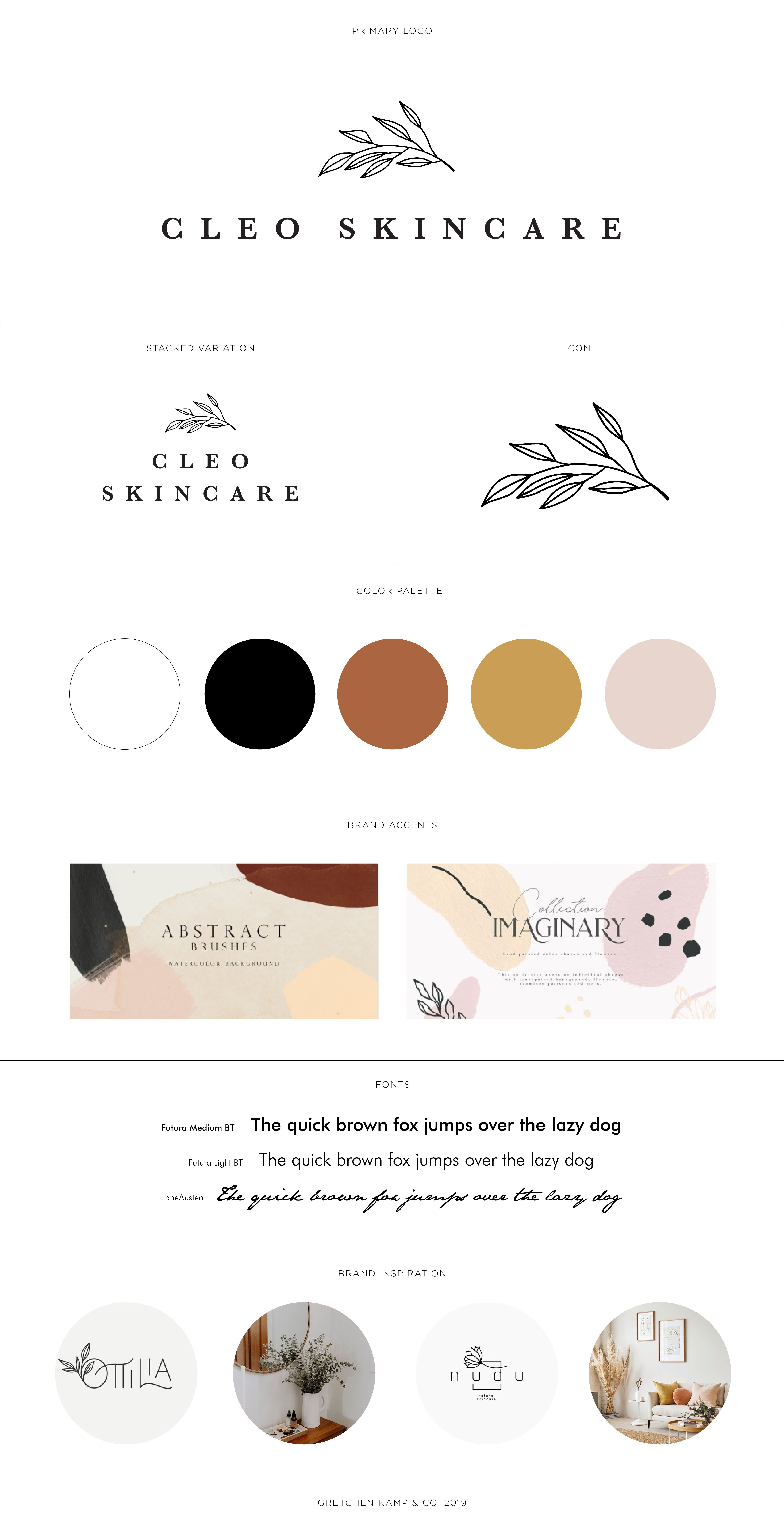 Skincare Branding With Leaf By Branding Specialist Gretchen Kamp In San Diego Ca Skincare Branding Website Branding Branding Website Design