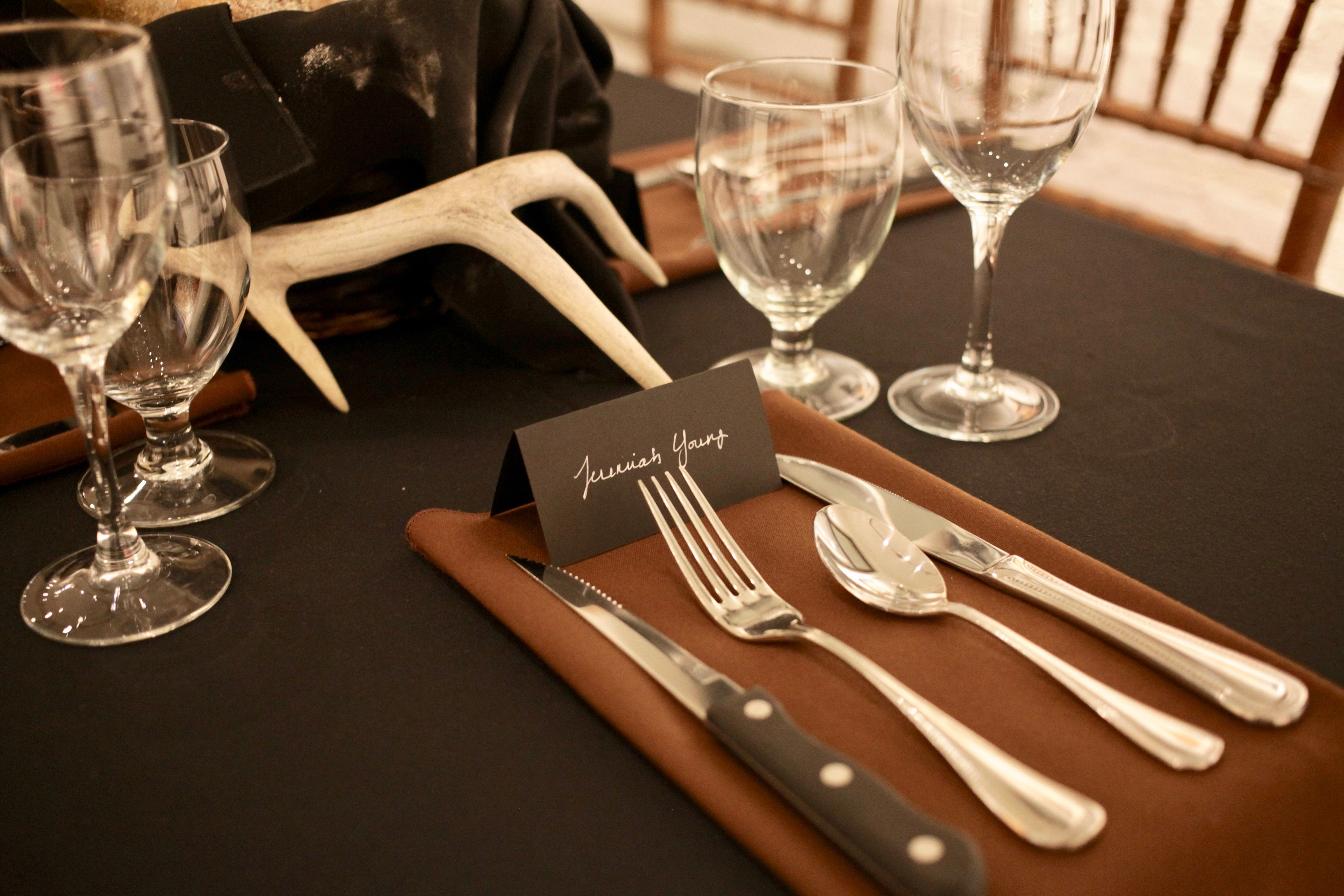 Rustic and refined table setting.