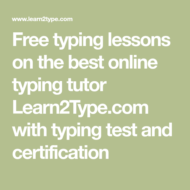 Free typing lessons on the best online typing tutor Learn2Type.com ...