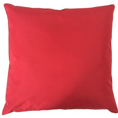 LaKasaLLC St Barths Solid Red Polyester Indoor/Outdoor Throw Pillow
