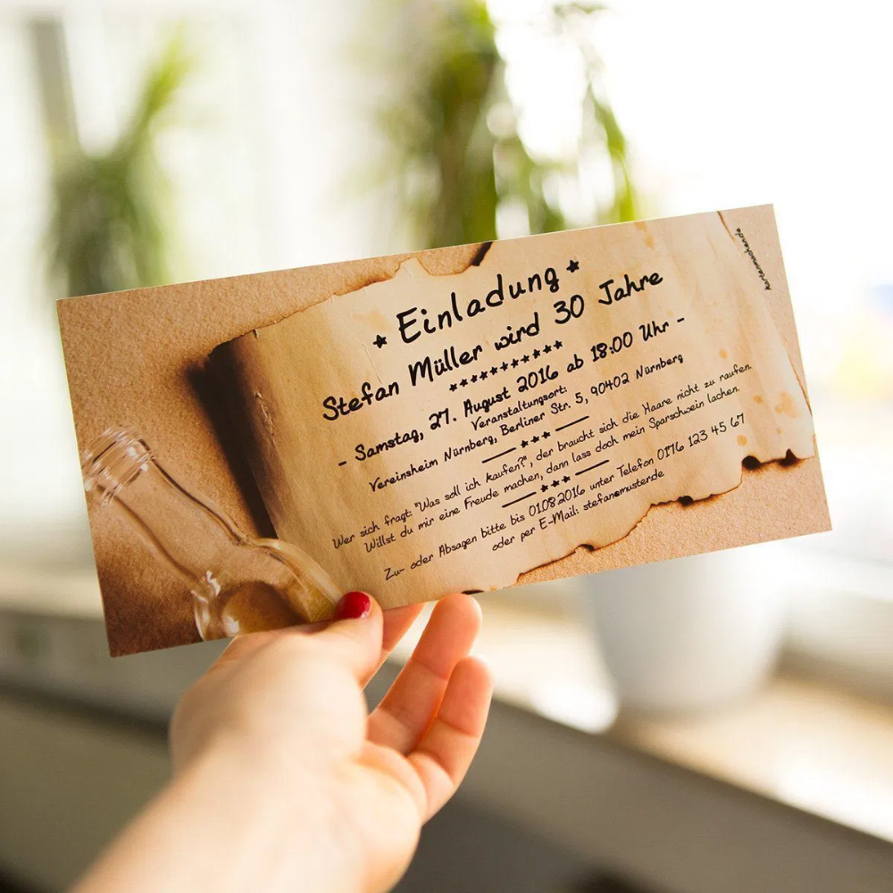 einladungskarten geburtstag selbst gestalten günstig