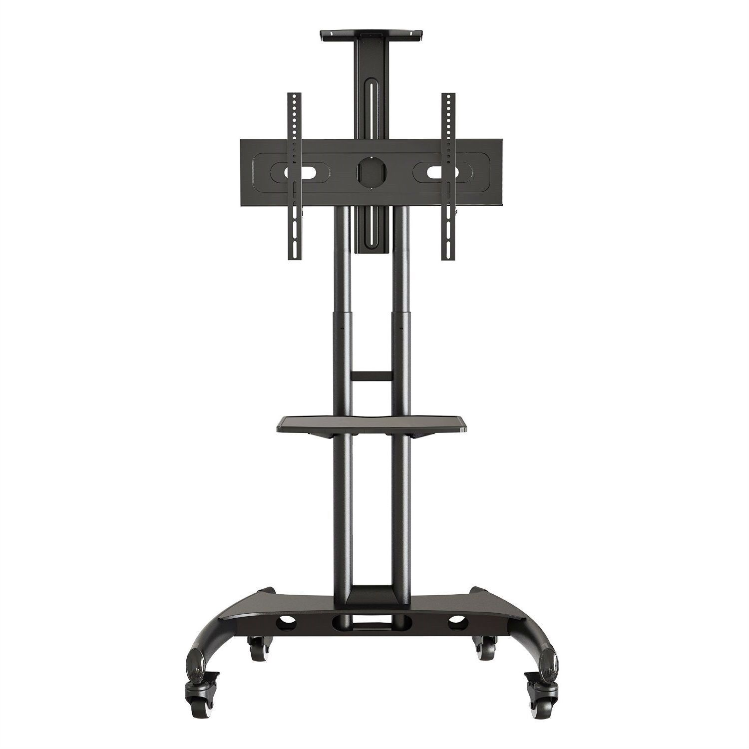 This Mobile TV Stand Adjustable Height TV Cart For Up To TV Is A Solid,  Durable, All Steel Constructed, Height Adjustable TV Cart With Universal TV  Mount ...