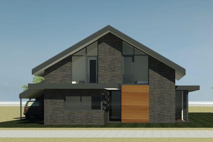 Nieuwbouwwoning Hattemse Loo in Hattem | Ontwerp van AL architecten BNA voor een nieuw te bouwen vrijstaande woning in Plan Hattemse Loo, Hattem