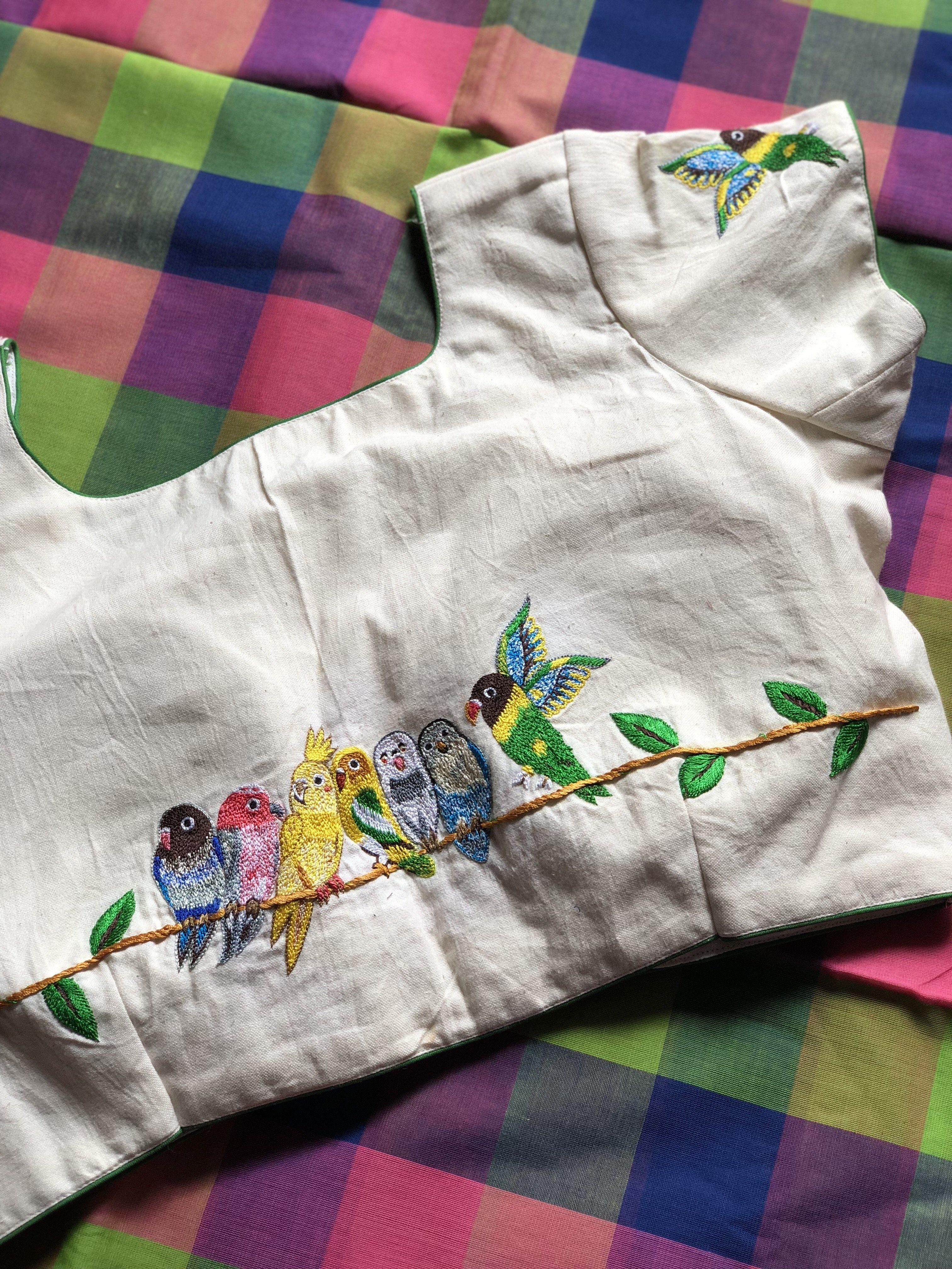 Checked saree with blouse – VIKA Boutique | bordar | Pinterest ...