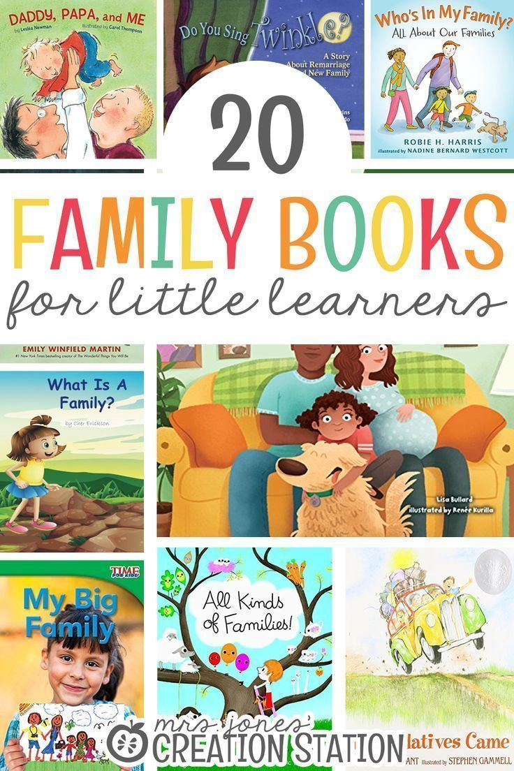 Photo of 20 Family Books for Little Learners