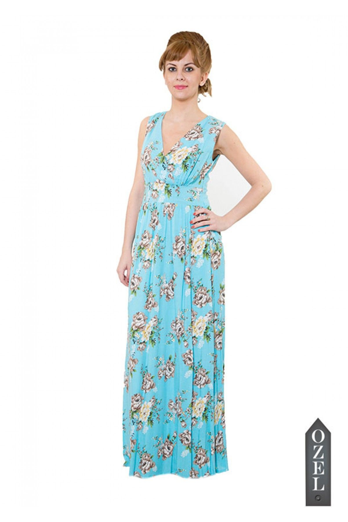 Morning Sky Flouncing Maxi Dress by Collezioni Moda | Love for Gowns ...