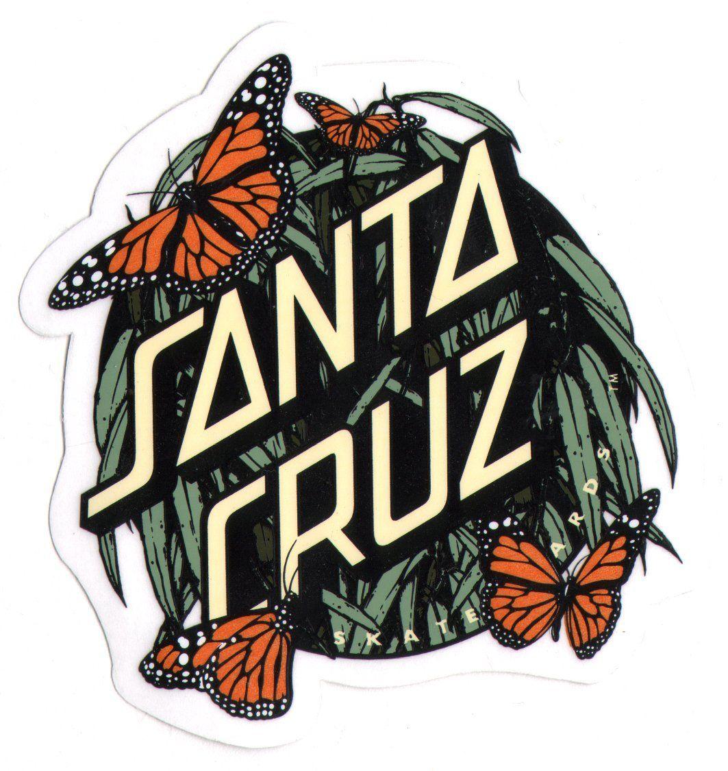 Santa Cruz Skateboard / Surf Sticker - butterflys surfing skating skate board: Amazon.co.uk: Car & Motorbike