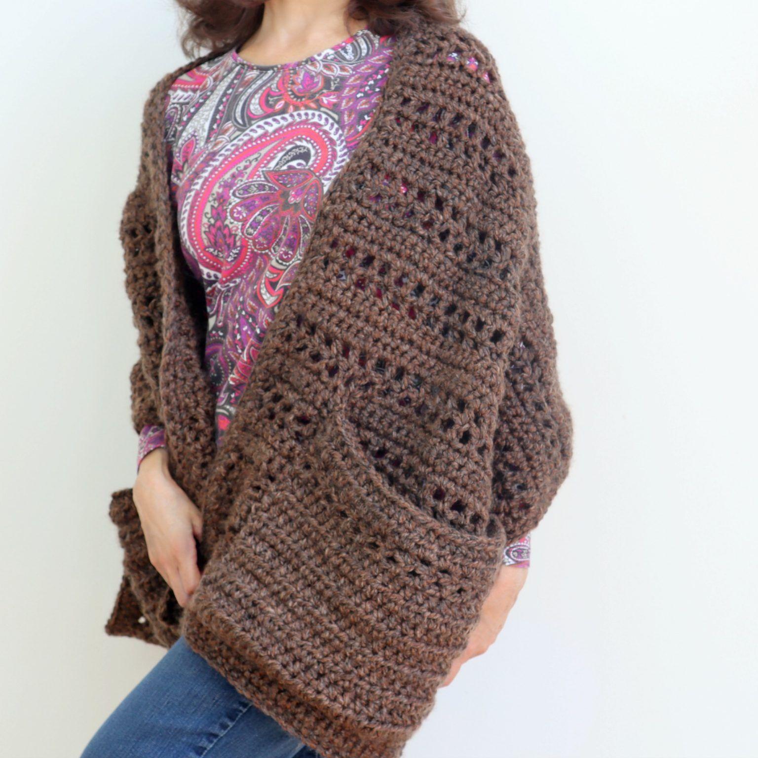 Easy Crochet Pocket Shawl - Crazy Cool Crochet | Crochet ...