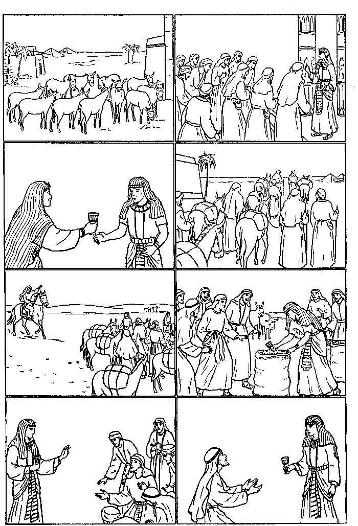 Joseph In Egypt Coloring Child Coloring Joseph In Egypt Sunday School Coloring Pages Bible School Crafts