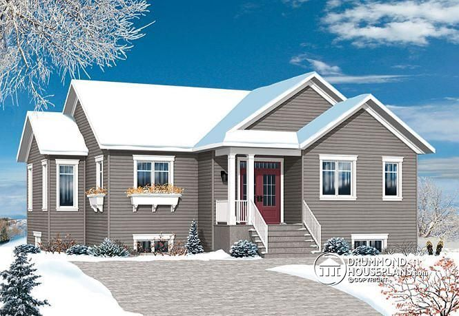 W3133 v4 affordable 4 bedroom bungalow large master for Affordable house plans for large families
