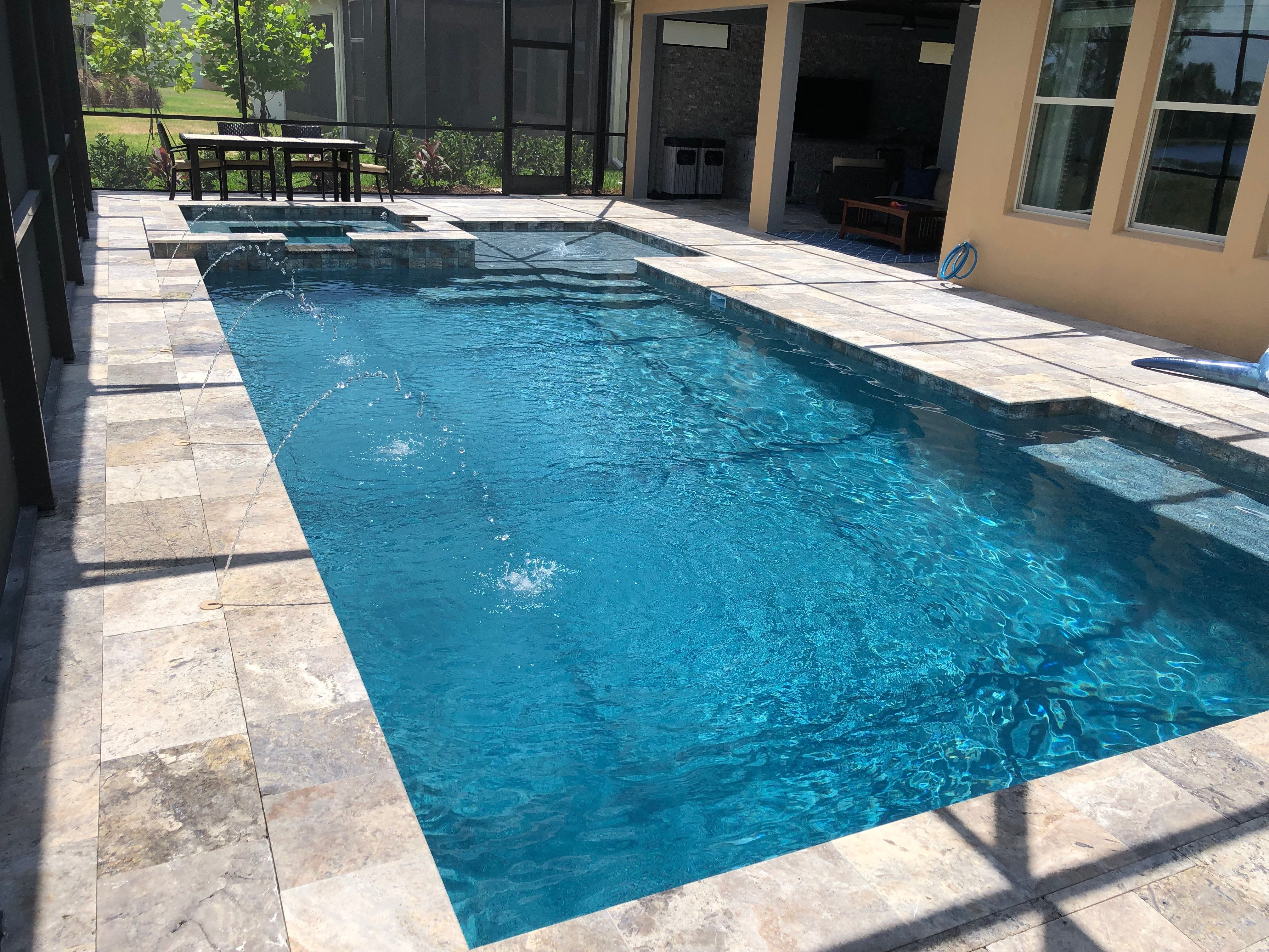 A Geometric In Ground Pool Design In Orlando Florida Some