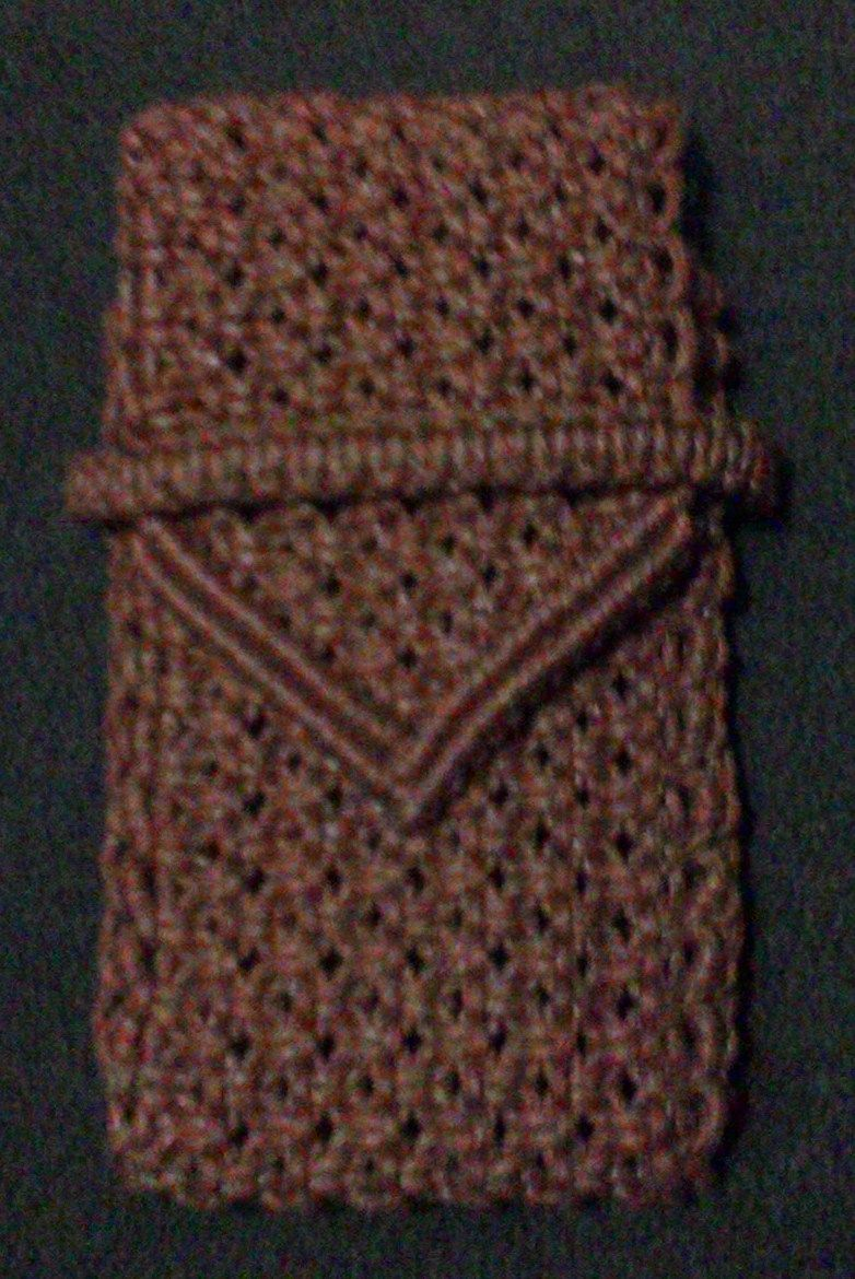 Macrame Cell Phone Case My Knotwork Pinterest Tote Bag Kulit Voila Callysta Dark Brown Pouches Cases Knots Purses