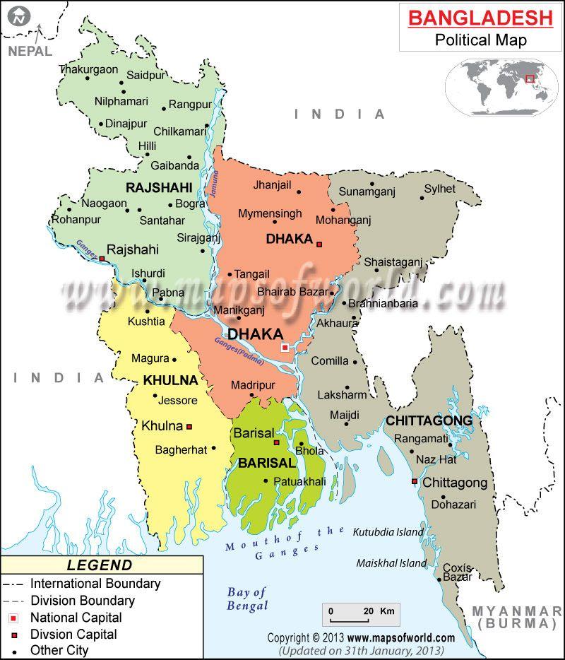 Bangladesh Map Bangladesh Map Bhutan Asia