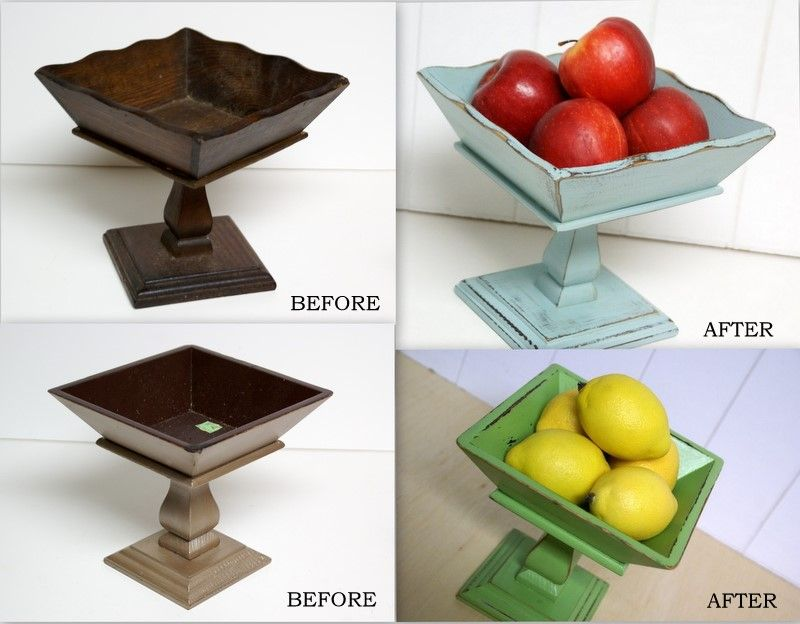 The Speckled Dog: DIY Pedestal Bowls made from a bowl and candlestick...love it