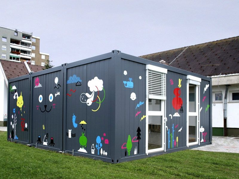 Slovenian temporary school for kindergarten Container