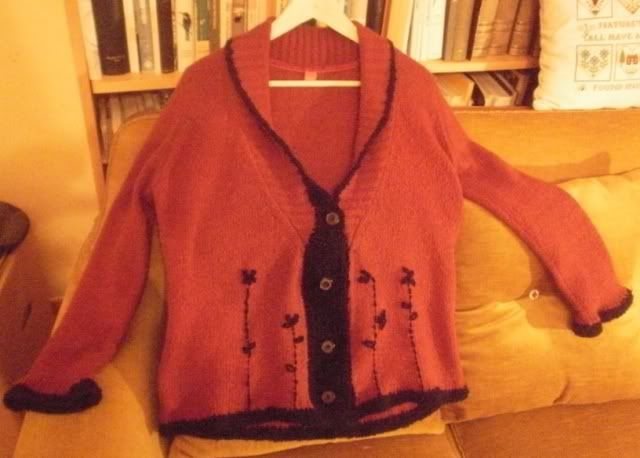 up-cycling a cardigan