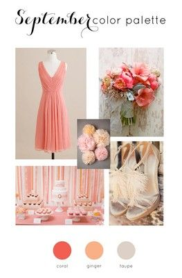 Early September Wedding Colors  Wedding color scheme in