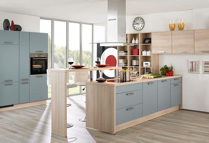 Küche in hellblau kücheninsel www dyk360 kuechen de