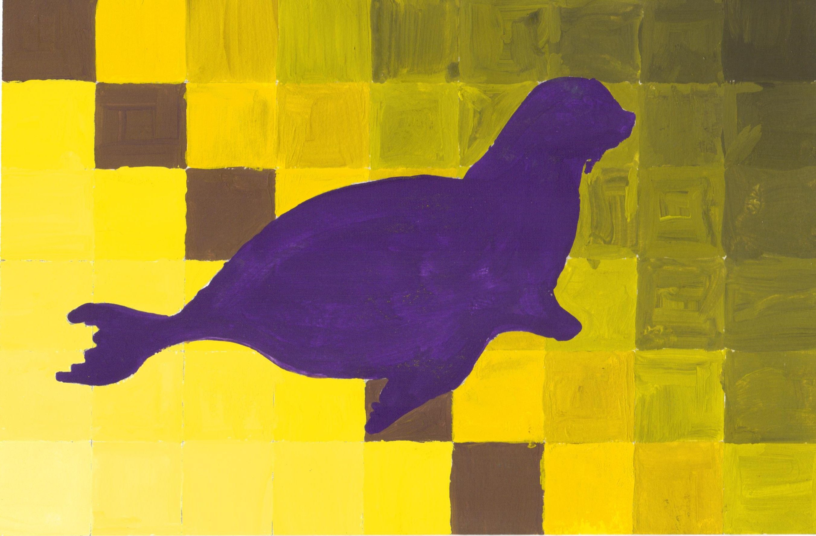 Seal Silhouette Painting Drawing Painting Silhouette Painting Painting Drawing