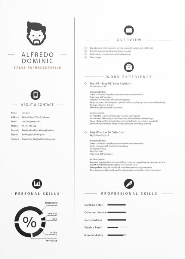 Free-Cv-Template.Png (615×861) | Resume Ideas | Pinterest | Resume