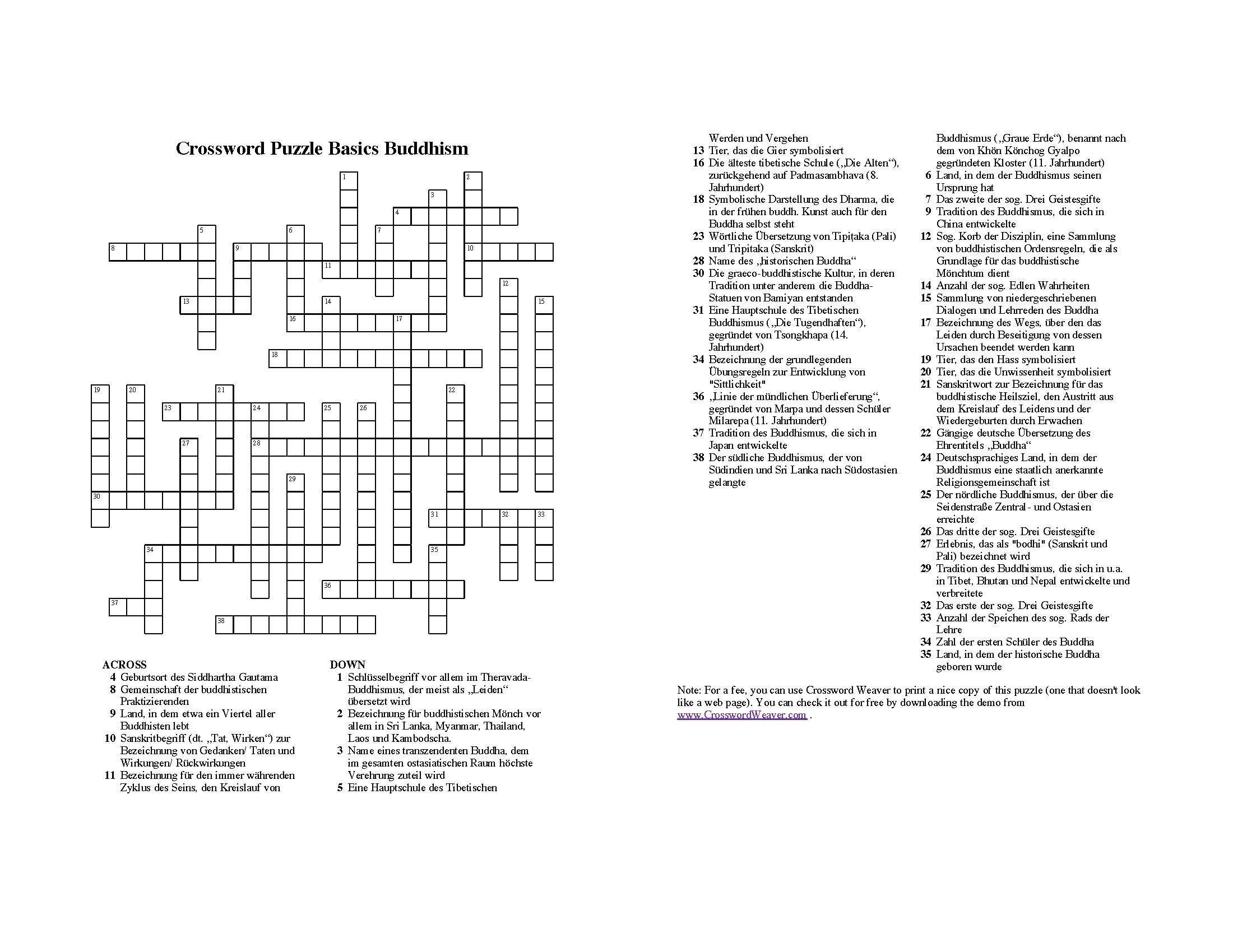 The Crossword Puzzle Below! Sc 1 St Cultural