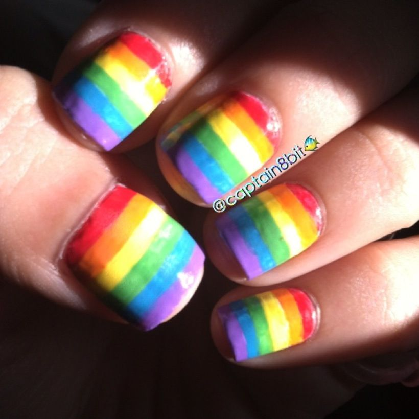 Pride Nail Designs: Been Rockin' The Rainbow Stripes On My Nails Forever Now