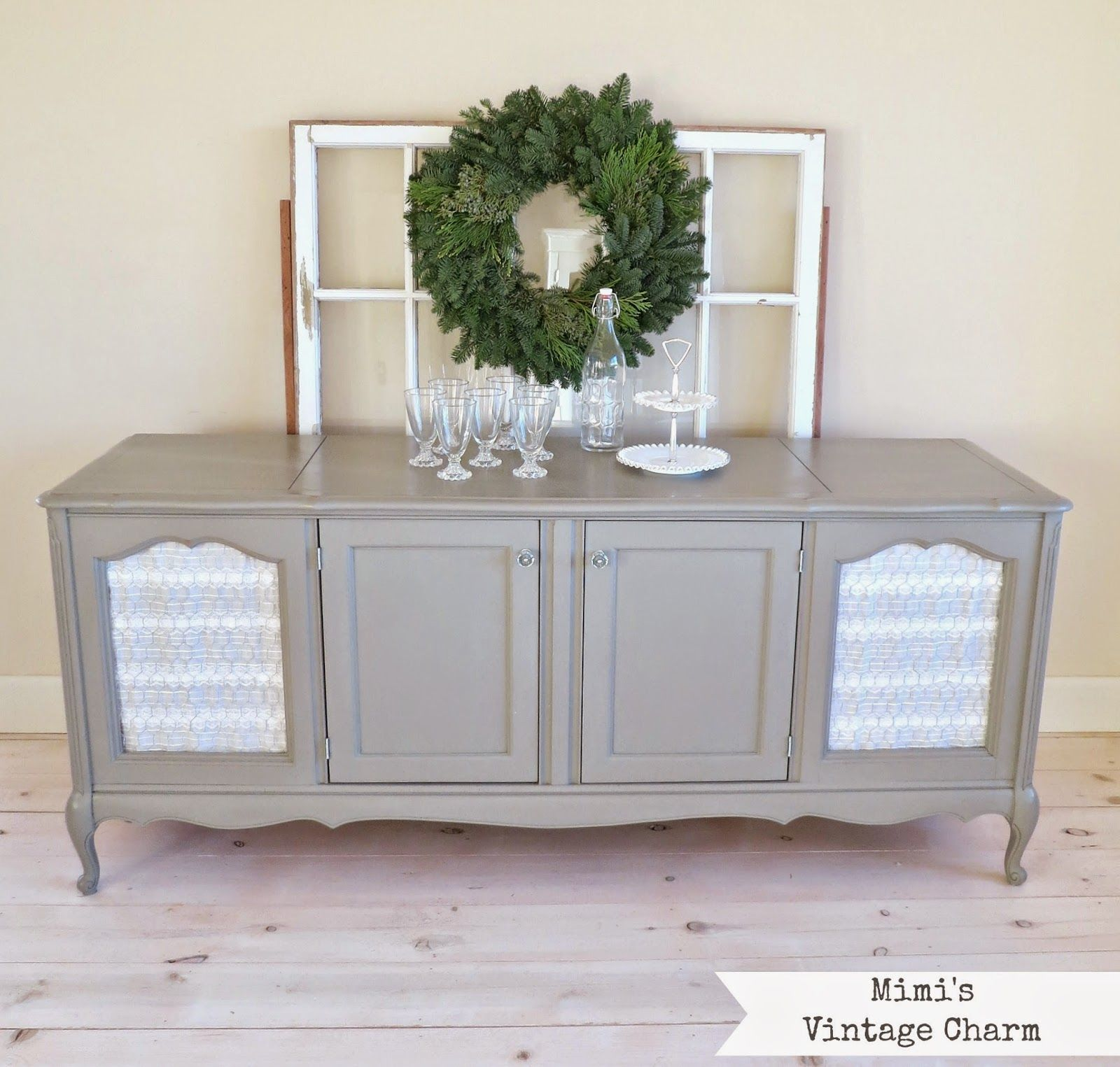 Mimi's Vintage Charm: French Linen Cabinet With Chicken
