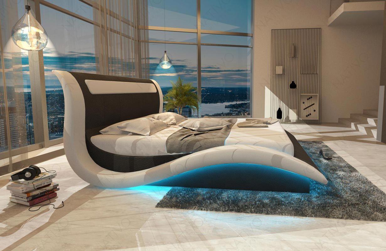 Divano di design amsterdam con illuminazione a led e presa usb
