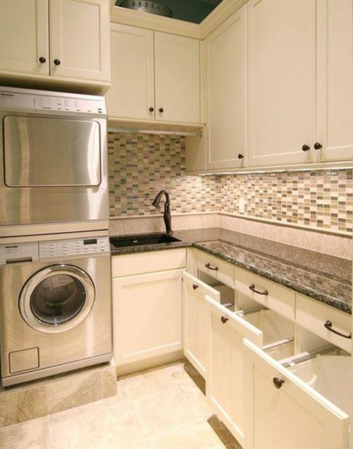 waschbecken f r die waschk che tipps zur einrichtung des waschraums wohnen pinterest. Black Bedroom Furniture Sets. Home Design Ideas