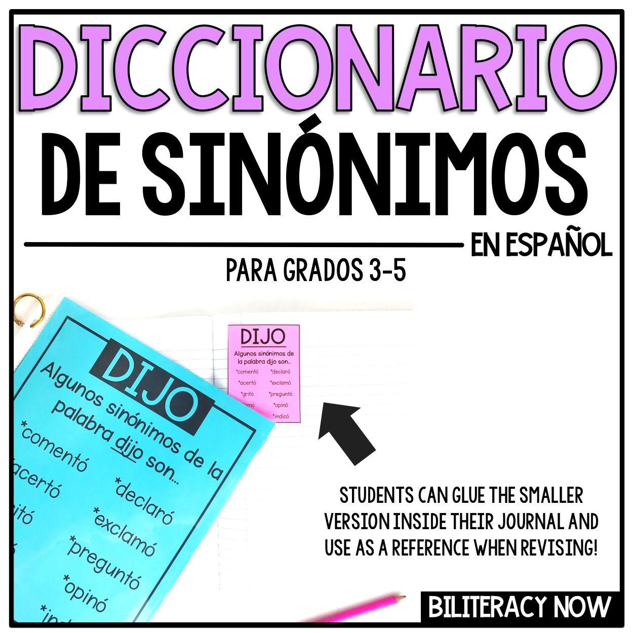 Spanish Class Thesaurus