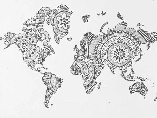 globe henna henna pinterest hennas tattoo and ink art. Black Bedroom Furniture Sets. Home Design Ideas