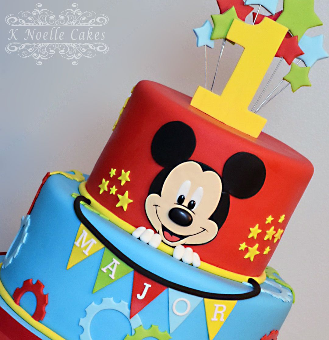 Make A D Mickey Mouse Cake