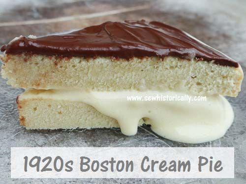 1920s Boston Cream Pie