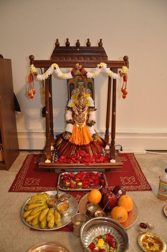 Recipes And Procedures For Varalakshmi Nombu Pooja Room