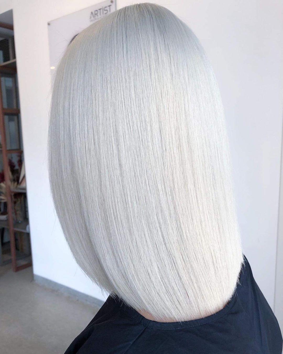 Artist Salon Academy On Instagram White Hair Lucianbusuioc Wellahair Hairinspo Ghdhair Hairoftheday Haircolor Whit Ghd Hair Blunt Hair Wella Hair