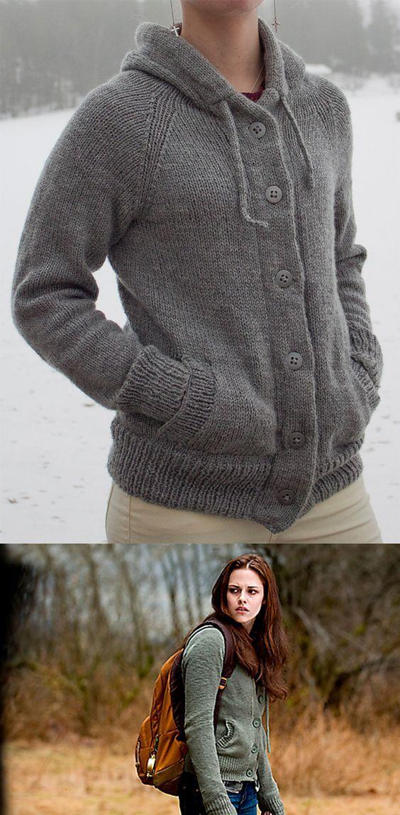 Free Knitting Pattern for Twilight New Moon Bella Hooded Cardigan ...
