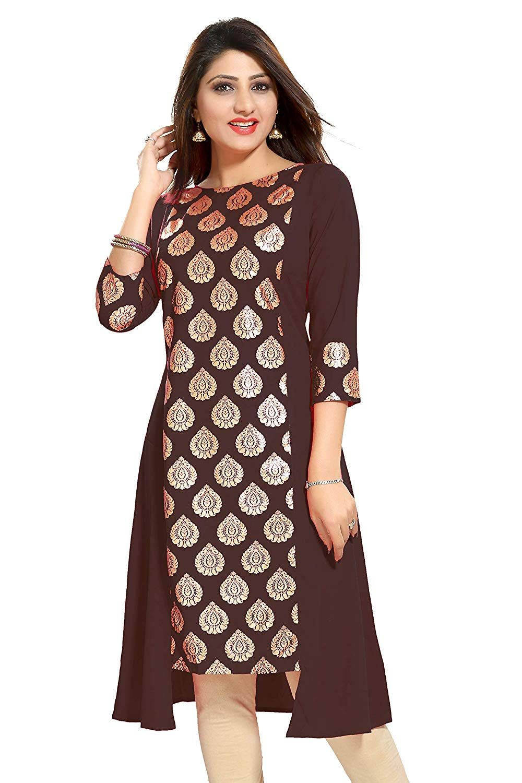 305335c846943f ALC Creation Women s Crepe Kurti  Amazon.in  Clothing   Accessories ...