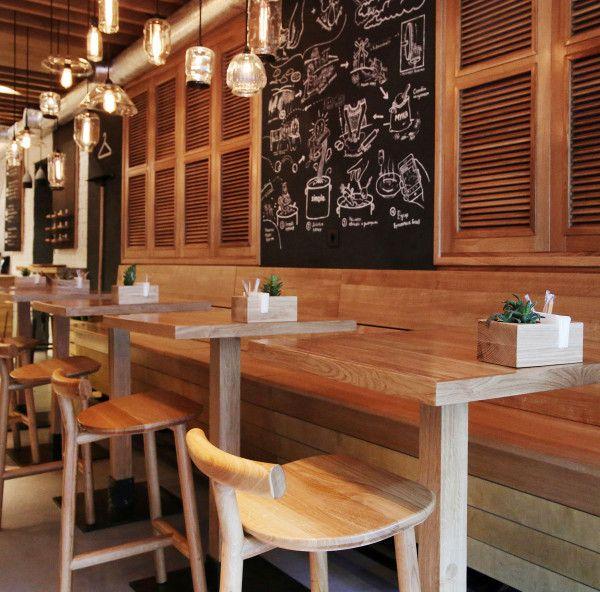 Designing a modern fast food restaurant design milk