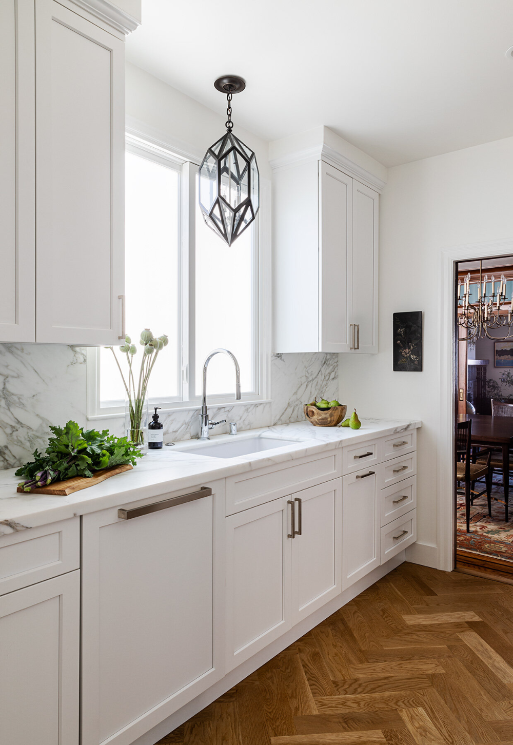 NOPA — CHRISTY ALLEN DESIGNS white shaker kitchen, white kitchen ...