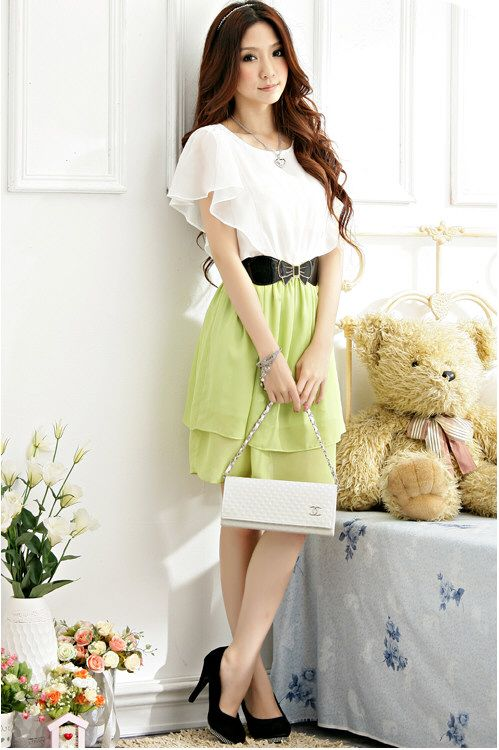 JK1219 Yellow Korean Fashion Dress Short Sleeve Malaysia Online Shopping f2aa544c7d