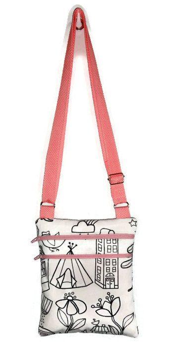 Color Me Bag, Personalized Bag, Little Girls Bag, Sling Bag, Girls Purse, Kids Bag, Small Messenger Bag, Small Girls Bag, Satchel, Knapsack - pinned by pin4etsy.com