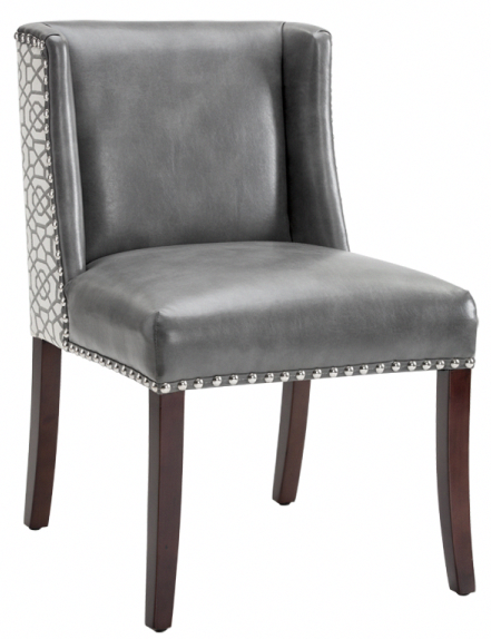 Wingback Dining Chairs Canada Wheelchair Racing Restaurant Barstool Sr 101088 Low Back Attractive Chair W Silver Nailhead Trim Artefac Leatherdiningroomchairs