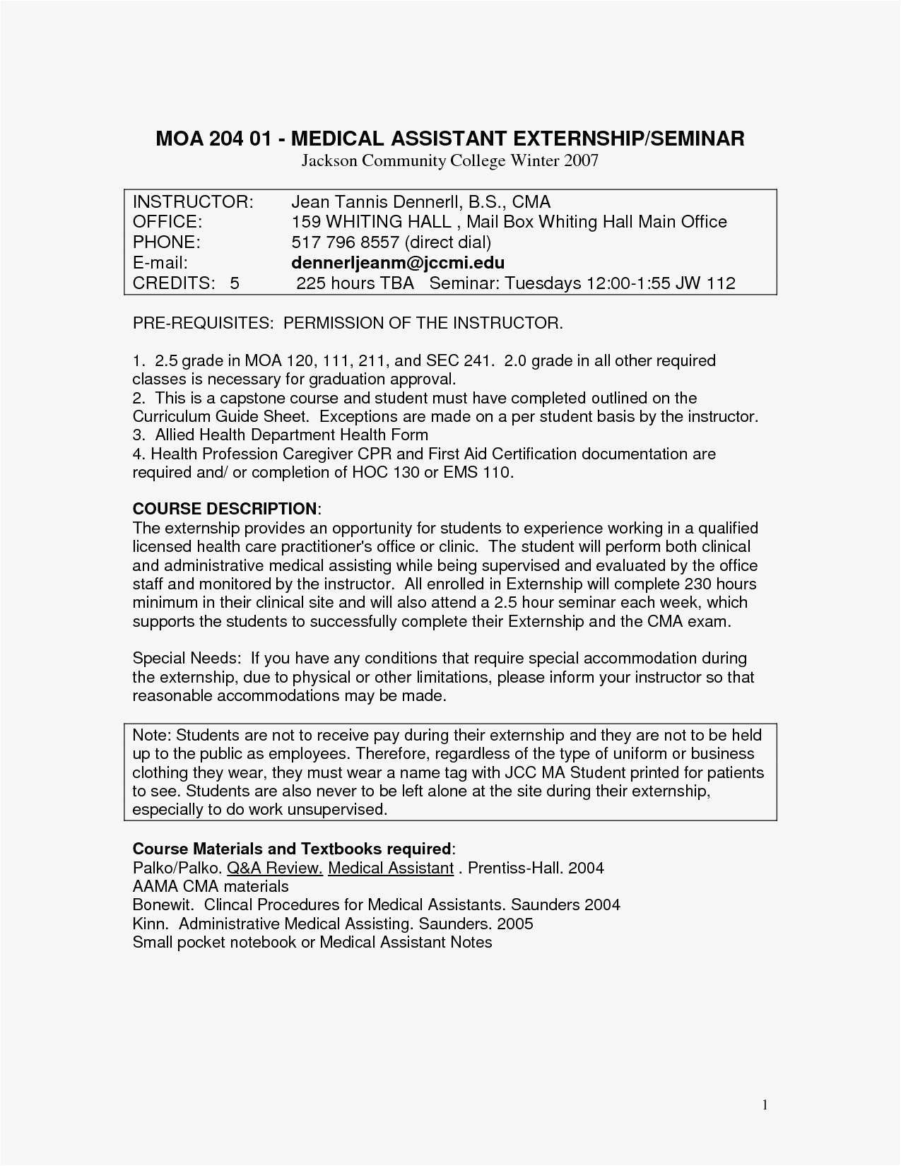 26 Medical Assistant Cover Letter Examples Entry Level Administrative Photo Resume