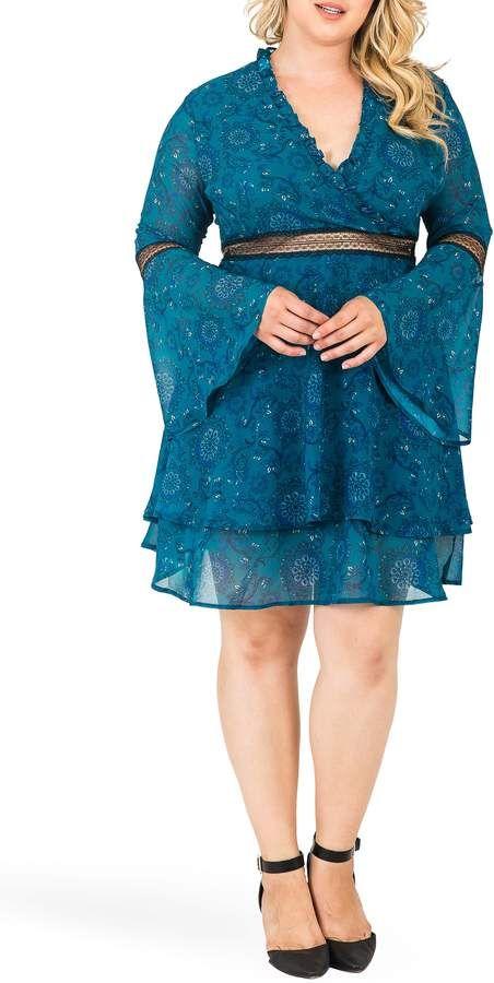 2fb9c0d7fff Standards   Practices Etsy Floral Print Fit   Flare Dress  ShopStyle   shopthelook  ad  sponsored  affordableplussizefashion  plussize   plussizefashion ...